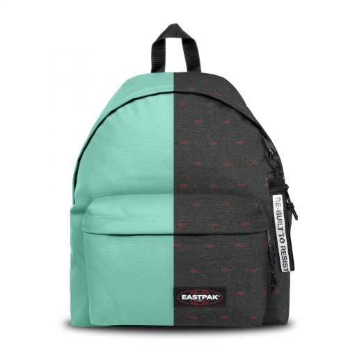 Re-built: Recycled Padded Pak'r® Turquoise/Retro Sunset Backpacks by Eastpak - view 1