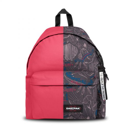 Re-built: Recycled Padded Pak'r® Sailor Red/Red Wolves Backpacks by Eastpak - view 1