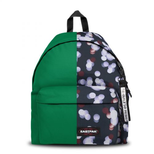 Re-built: Recycled Padded Pak'r® Grass Green/Summer Lights Backpacks by Eastpak - view 1