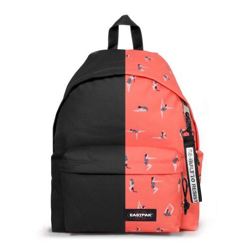 Re-built: Recycled Padded Pak'r® Black/Jump Orange Backpacks by Eastpak - view 1