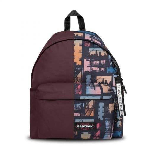 Re-built: Recycled Padded Pak'r® Eggplant/Sunset City Backpacks by Eastpak - view 1