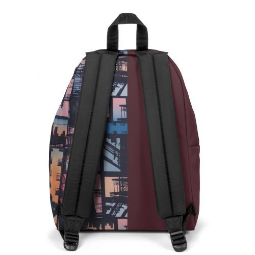 Re-built: Recycled Padded Pak'r® Eggplant/Sunset City Backpacks by Eastpak - view 4