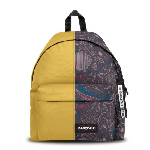 Re-built: Recycled Padded Pak'r® Yellow/Red Wolves Backpacks by Eastpak - view 1