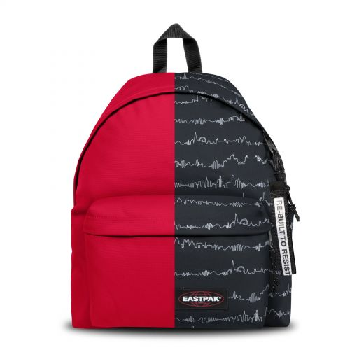 Re-built: Recycled Padded Pak'r® Sailor Red/Heartbeat Backpacks by Eastpak - view 1