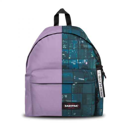Re-built: Recycled Padded Pak'r® Lilac/Space Blue Backpacks by Eastpak - view 1