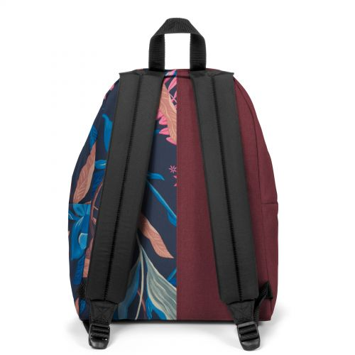 Re-built: Recycled Padded Pak'r® Crafty Wine/Tropic Flower Backpacks by Eastpak - view 4