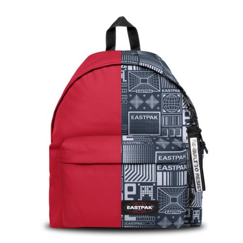 Re-built: Recycled Padded Pak'r® Sailor Red/Vintage Backpacks by Eastpak - view 1