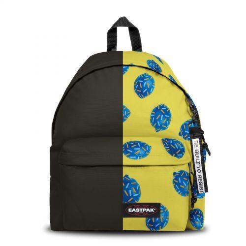Re-built: Recycled Padded Pak'r® Black/Happy Lemon Backpacks by Eastpak - view 1