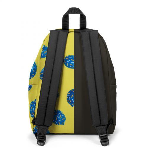 Re-built: Recycled Padded Pak'r® Black/Happy Lemon Backpacks by Eastpak - view 4