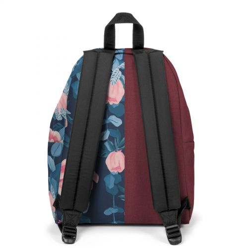 Re-built: Recycled Padded Pak'r® Crafty Wine/Vintage Flower Backpacks by Eastpak - view 4