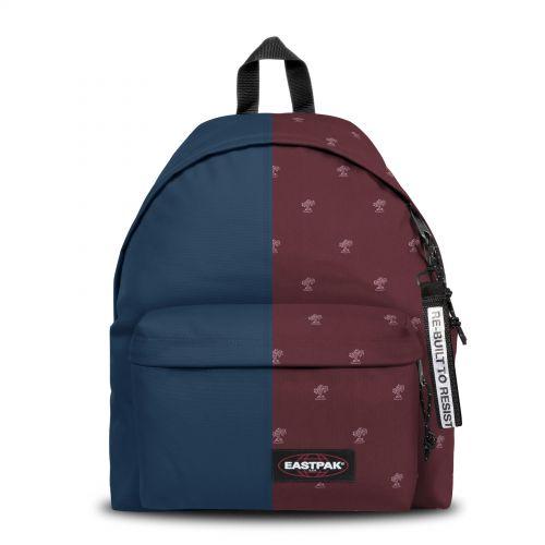 Re-built: Recycled Padded Pak'r® Ocean Blue/Burgundy Backpacks by Eastpak - view 1