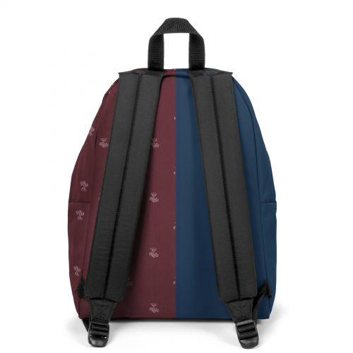 Re-built: Recycled Padded Pak'r® Ocean Blue/Burgundy Backpacks by Eastpak - view 4