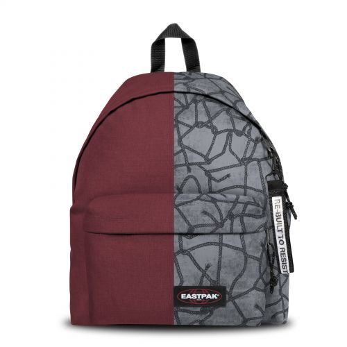 Re-built: Recycled Padded Pak'r® Crafty Wine/Roaring Ropes Backpacks by Eastpak - view 1