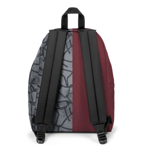 Re-built: Recycled Padded Pak'r® Crafty Wine/Roaring Ropes Backpacks by Eastpak - view 4