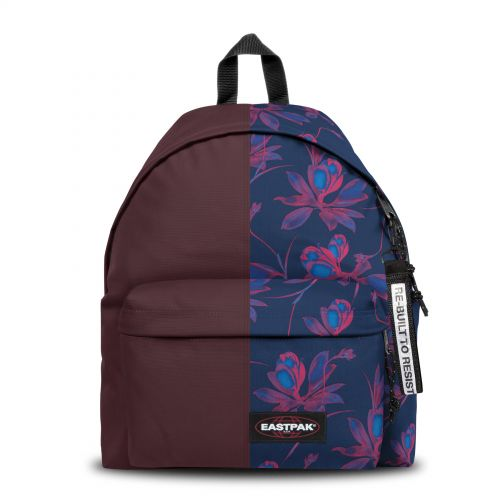 Re-built: Recycled Padded Pak'r® Crafty Wine/Fluo Flowers Backpacks by Eastpak - view 1