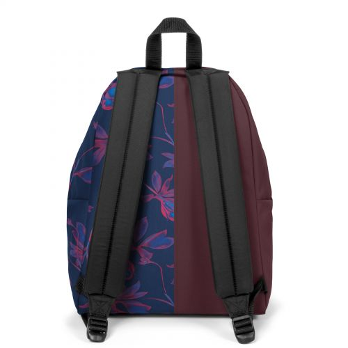 Re-built: Recycled Padded Pak'r® Crafty Wine/Fluo Flowers Backpacks by Eastpak - view 4