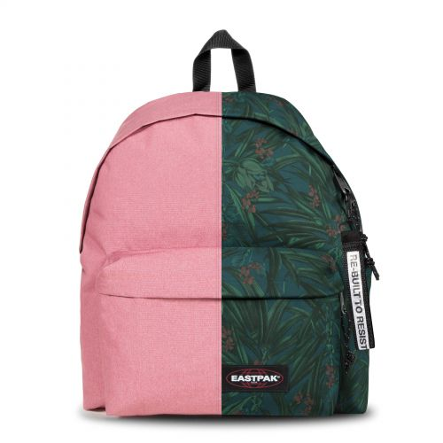 Re-built: Recycled Padded Pak'r® Vintage Pink/Night Breeze Backpacks by Eastpak - view 1