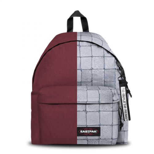 Re-built: Recycled Padded Pak'r® Crafty Wine/Concrete Backpacks by Eastpak - view 1