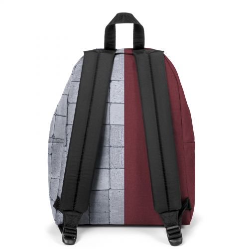 Re-built: Recycled Padded Pak'r® Crafty Wine/Concrete Backpacks by Eastpak - view 4
