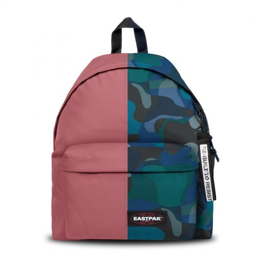 Re-built: Recycled Padded Pak'r® Dusty Pink/Geo Shapes Backpacks by Eastpak - view 1