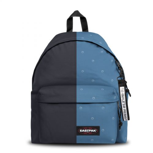 Re-built: Recycled Padded Pak'r® Deep Navy/Loading Backpacks by Eastpak - view 1