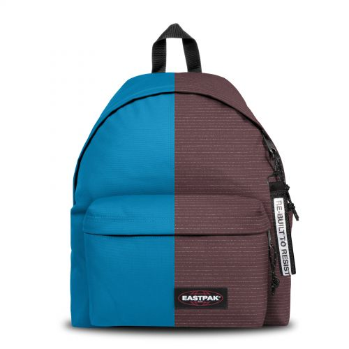 Re-built: Recycled Padded Pak'r® Pool Blue/Stitched Backpacks by Eastpak - view 1