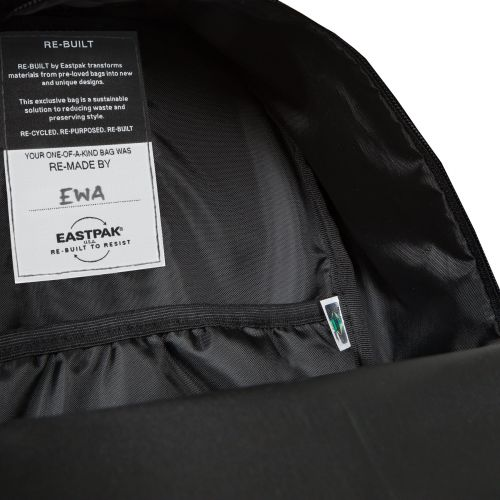 Re-built: Recycled Padded Pak'r® Pool Blue/Stitched Backpacks by Eastpak - view 10