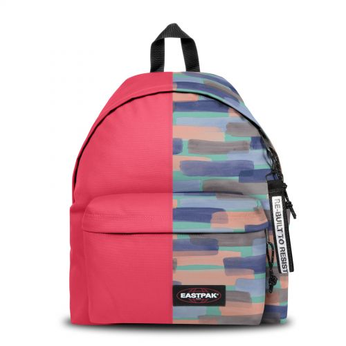 Re-built: Recycled Padded Pak'r® Sailor Red/Soft Strokes Backpacks by Eastpak - view 1