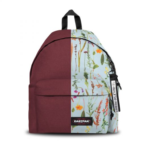 Re-built: Recycled Padded Pak'r® Red/Flowers Backpacks by Eastpak - view 1