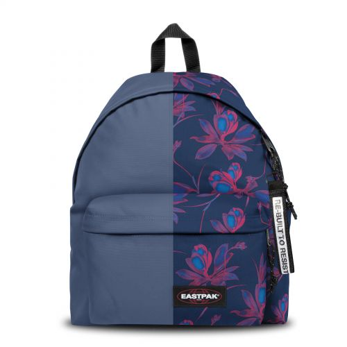 Re-built: Recycled Padded Pak'r® Blue/Flowers Backpacks by Eastpak - view 1