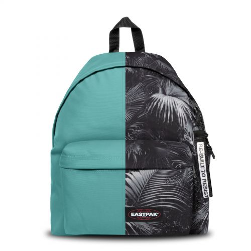 Re-built: Recycled Padded Pak'r® Turquoise/Flowers Backpacks by Eastpak - view 1