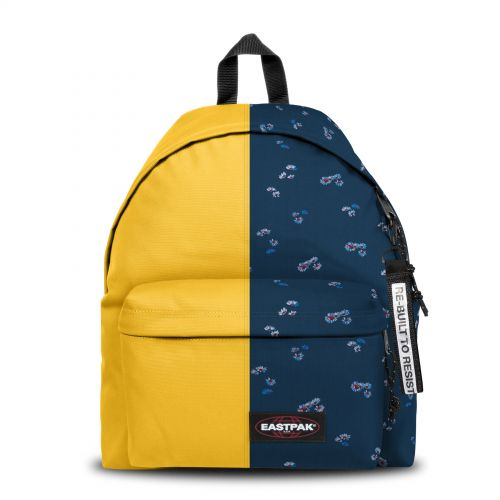 Re-built: Recycled Padded Pak'r® Yellow/Small Flowers Backpacks by Eastpak - view 1