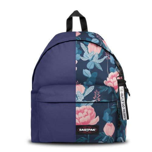 Re-built: Recycled Padded Pak'r® Purple/Tropical Flowers Backpacks by Eastpak - view 1
