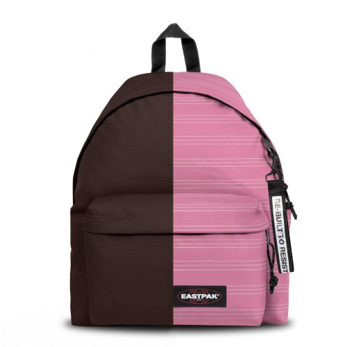Re-built: Recycled Padded Pak'r® Brown/Pink Stripes Backpacks by Eastpak - view 1