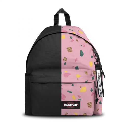 Re-built: Recycled Padded Pak'r® Black/Abstract Print Backpacks by Eastpak - view 1