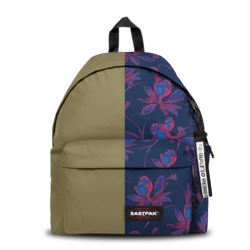 Re-built: Recycled Padded Pak'r® Military Green/ Tropical Flowers Backpacks by Eastpak - view 1