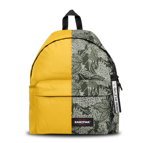 Re-built: Recycled Padded Pak'r® Gold/White and Black Leaves Backpacks by Eastpak - view 1