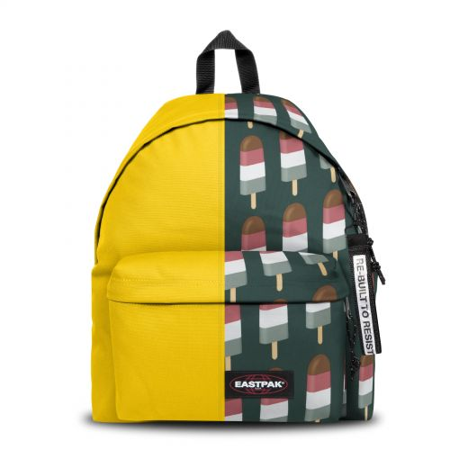 Re-built: Recycled Padded Pak'r® Yellow/Popsicles Backpacks by Eastpak - view 1