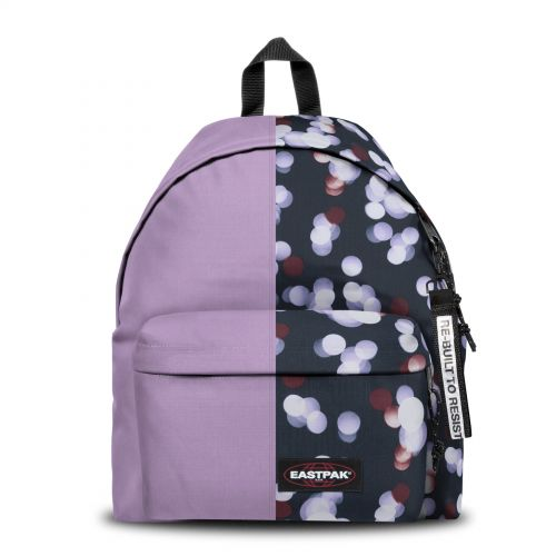 Re-built: Recycled Padded Pak'r® Mauve/Multicolor Dots Backpacks by Eastpak - view 1