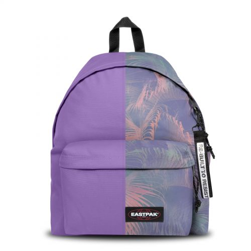 Re-built: Recycled Padded Pak'r® Purple/Palm trees print Backpacks by Eastpak - view 1
