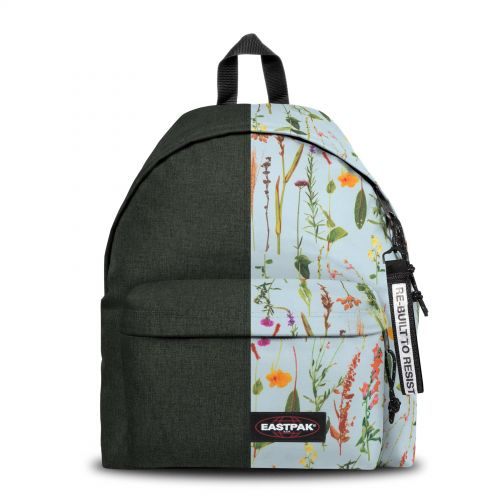 Re-built: Recycled Padded Pak'r® Gray/Tropical Flowers Backpacks by Eastpak - view 1