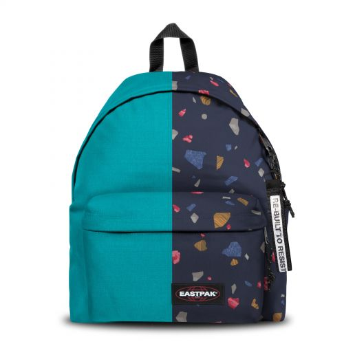 Re-built: Recycled Padded Pak'r® Blue/Stroke Print Backpacks by Eastpak - view 1