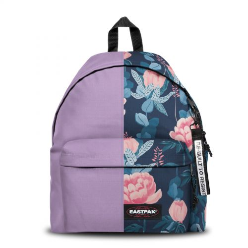 Re-built: Recycled Padded Pak'r® Light Mauve/Floral Print Backpacks by Eastpak - view 1