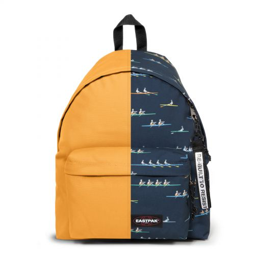 Re-built: Recycled Padded Pak'r® Gold/ Boats Backpacks by Eastpak - view 1