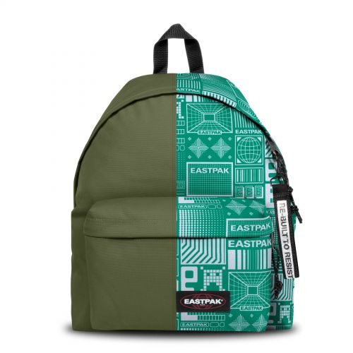 Re-built: Recycled Padded Pak'r® Military Green/Eastpak graphic design Backpacks by Eastpak - view 1