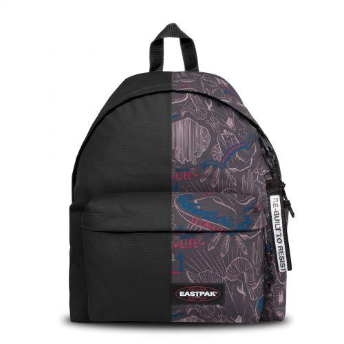 Re-built: Recycled Padded Pak'r® Black/Stroke Print Backpacks by Eastpak - view 1