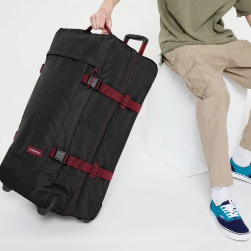 Tranverz L Blakout Stripe Red Luggage by Eastpak - view 0