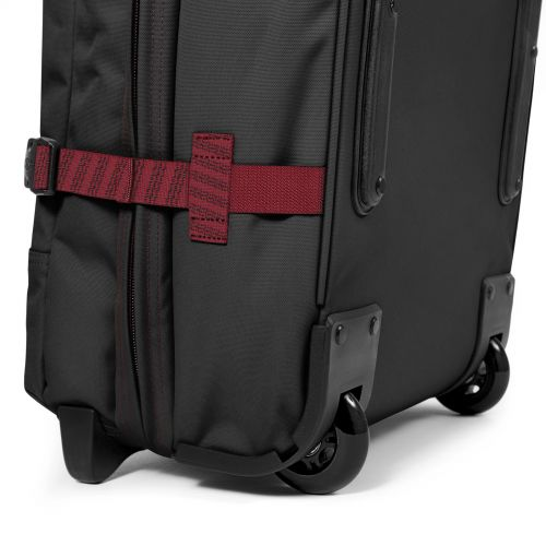 Tranverz L Blakout Stripe Red Luggage by Eastpak