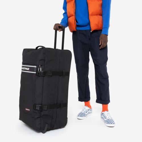 Tranverz L Black Snap Luggage by Eastpak