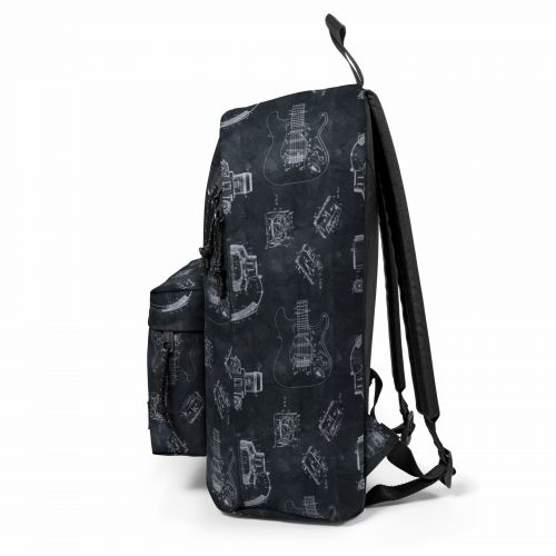 Out Of Office Patent Black Backpacks by Eastpak